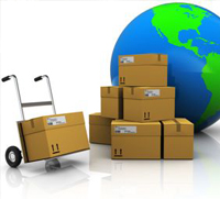Boxes to be shipped using logistic services